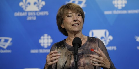 Françoise David, pictured hating everyone. Radio-Canada http://ruemasson.com/?p=17804