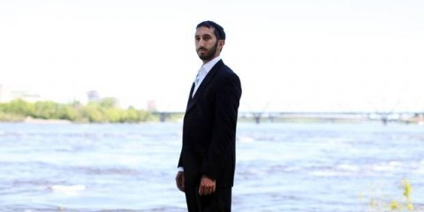 Deepan Budlakoti, noted pacifist, posing in front of the ocean at peace with the worldGlobe & Mail