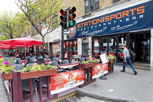 City planners have added numerous creative touches to Montreal's street life, including wooden terrases added to many bar-terrasses for the summer, that have proven to be very popular.Marie-France Coallier