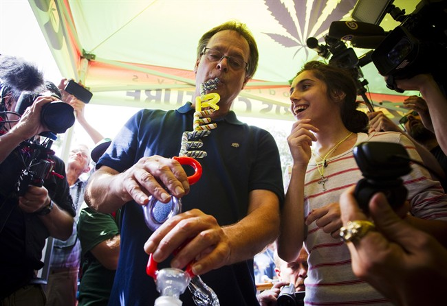 "A perk of being Marc Emery is all the custom ""freedom"" bongs people make for youBen Nelms/The Canadian Press"