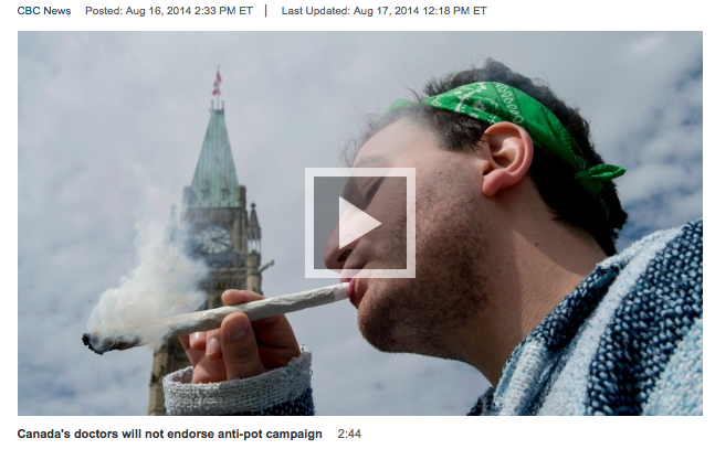 Story involving marijuana?  Roll out a photo from the 4/20 photo album.CBC
