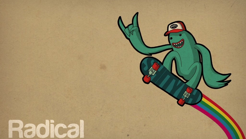 This skateboarding alien is currently being detained by the RCMPDr Snafu