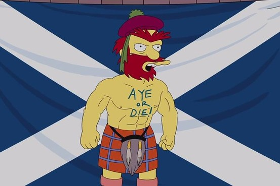 More Braveheart than Edward II...Animation Domination/The Simpsons