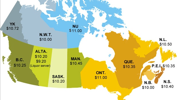 This state of affairs which respects that different regions of the country have different costs of living and appropriate wages? It just won't do.CBC