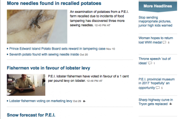 This is not a parody site. If we say those are the top news stories, it's because they are.