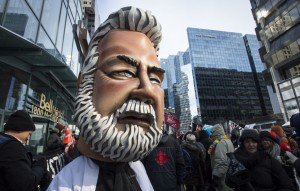 So, how much did that giant Couillard head cost? Since we're against austerity I guess spending like that doesn't matter!  http://www.thestar.com/news/canada/2015/02/26/protests-build-against-quebec-austerity-measures.html