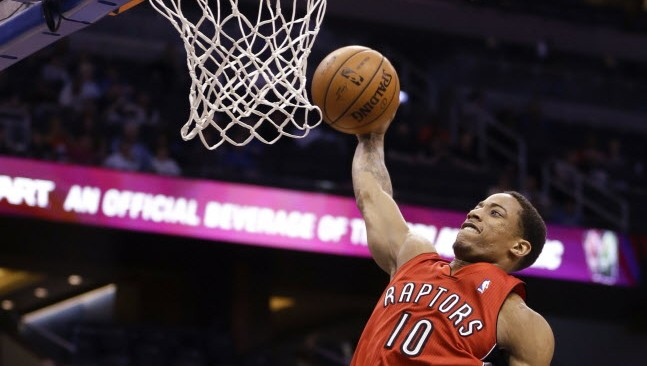 I thought he was going to miss it... http://o.canada.com/sports/raptors-more-worried-about-themselves-than-potential-playoff-opponents/ AP Photo/John Raoux