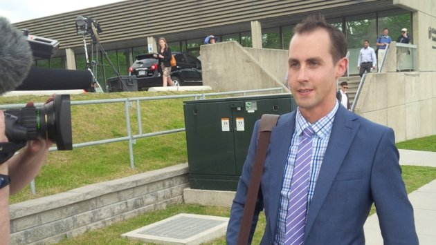 """It went good,"" says Michael Sona after the first day of proceedingsCBC"