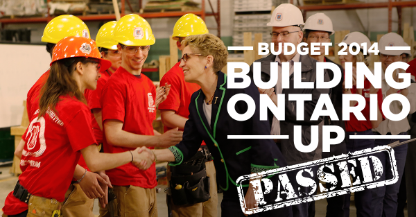 See, they're building Ontario, that's why they're wearing hard hats.Kathleen Wynne