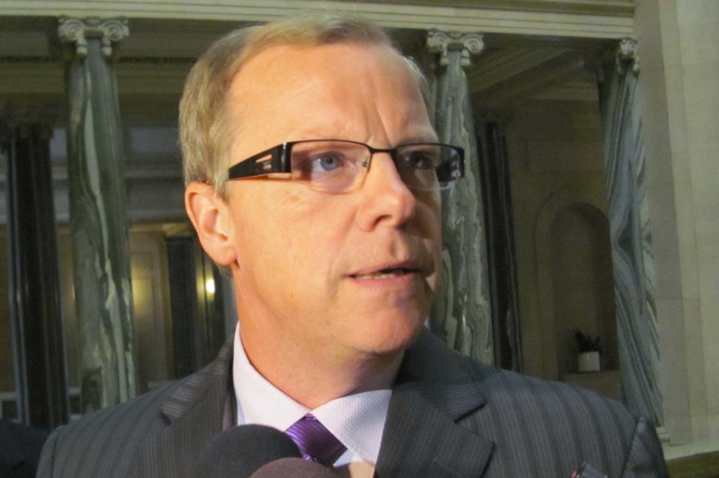 Brad Wall, pictured wondering why a Quebecois winemaker can't sell wine to Ontario without four dozen licensesSamantha Maciag