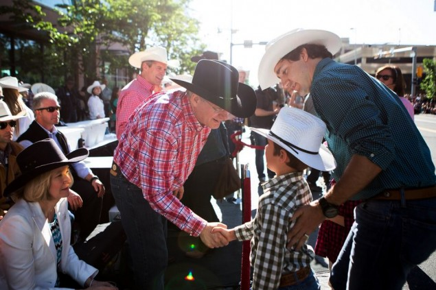 """Hello little guy, I just entered your daddy in the tie-down roping competition... As the calf.""CBC"