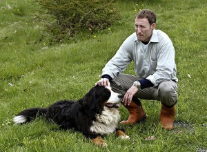 MacKay pictured with his dog, lovingly named Belinda.