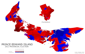 The Island is a little less red than it was in 2011 , and a little more Green than just Green Gables https://www.google.ca/search?q=PEI+electoral+map&rlz=1C1PRFC_enCA624CA626&espv=2&biw=1536&bih=783&source=lnms&tbm=isch&sa=X&ei=LihIVfeyLMH3yQT3roGQCQ&ved=0CAYQ_AUoAQ&dpr=1.25#imgrc=J_ECHV2MLhJXcM%253A%3BVo3QPuxBF3N8gM%3Bhttp%253A%252F%252Fimageshack.us%252Fa%252Fimg20%252F7421%252Fprinceedwardislandpolli.png%3Bhttp%253A%252F%252Fuselectionatlas.org%252FFORUM%252Findex.php%253Ftopic%253D159326.0%3B3384%3B2180