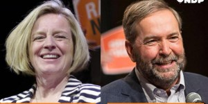 There is not a single picture of the two of them even in the same room together...doesn't bode well. http://www.huffingtonpost.ca/2015/05/06/federal-ndp-tries-to-gene_n_7223044.html