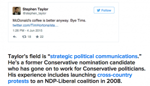 Mr. Taylor shows us that even a man with expertise in strategic political communications can't escape McDonald's.