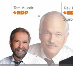A vote for me is a vote for Jack, or almost is, kinda http://www.nationalnewswatch.com/2015/05/11/jack-layton-hovers-over-mulcair-candidate-on-ndp-flyers/#.VXcmg8_BzRY